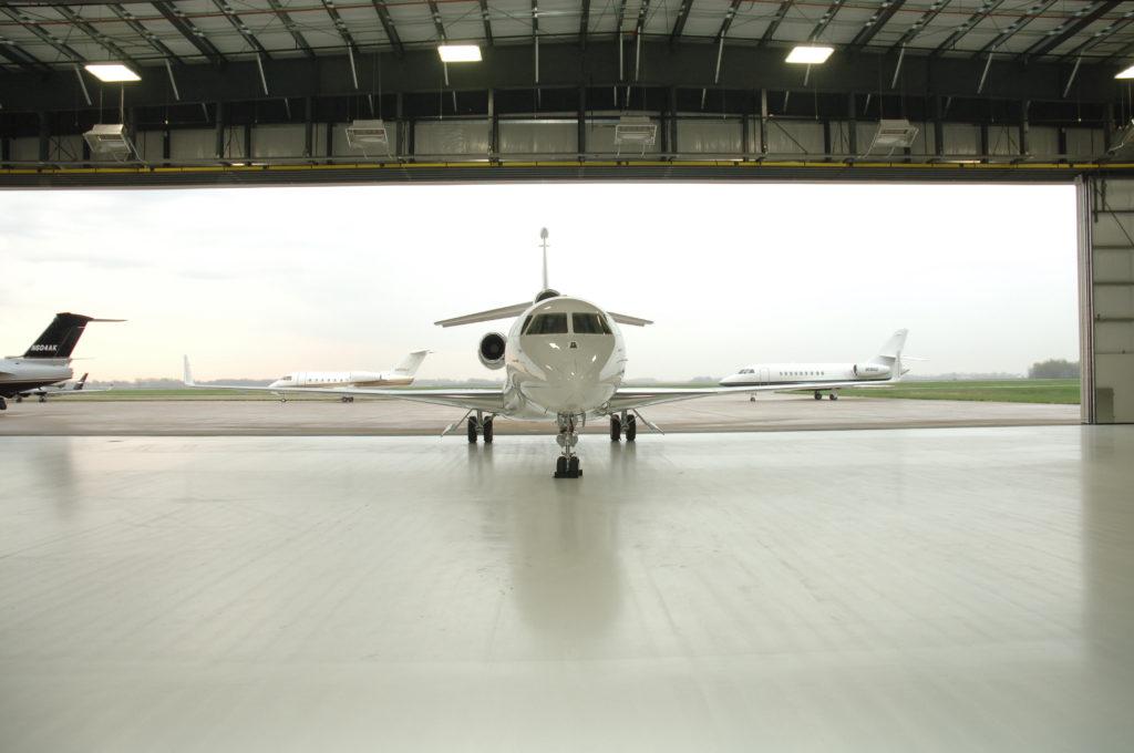 Jet in Hangar