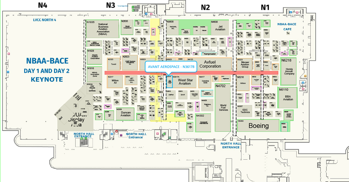 NBAA Floor Plan - Booth N3617B